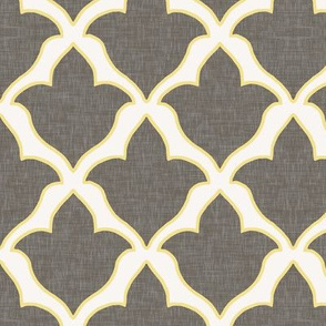 Fleur, in Cashmere Grey and Citron
