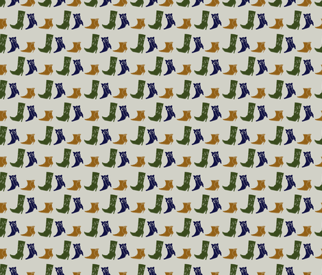 Boots fabric by valendji on Spoonflower - custom fabric