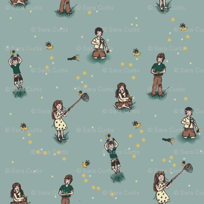 Kids Catching Fireflies
