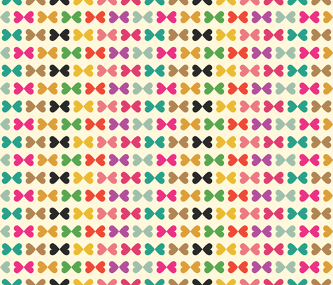 Heart Bows fabric by michellenilson on Spoonflower - custom fabric
