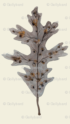 Silver Oak Leaf Natural