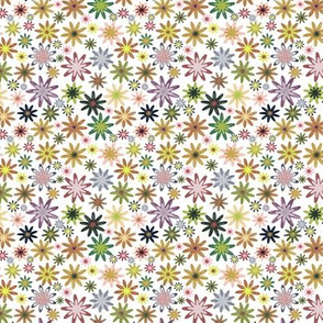 A colourful flower pattern - small