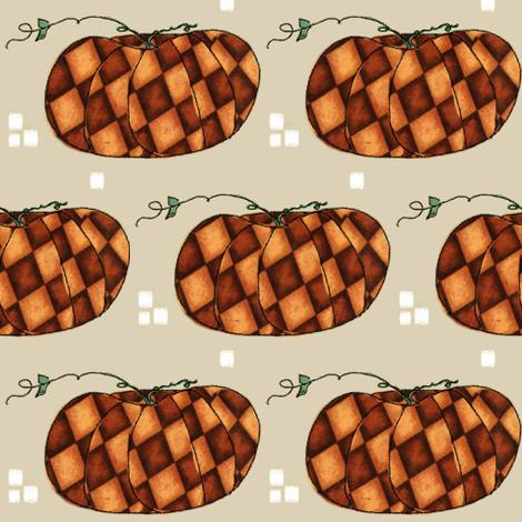 Fall Things: Autumn Pumpkins on Cappuccino Beige fabric by bohobear on Spoonflower - custom fabric