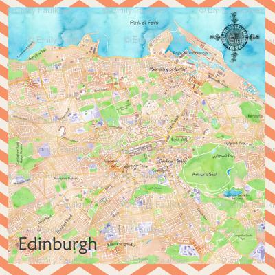 Edinburgh Watercolour Map