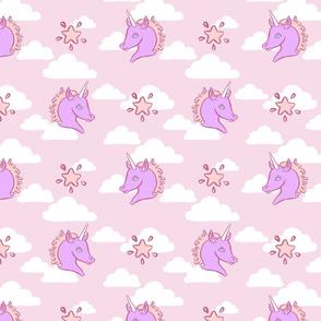 Pink Cloud Unicorns