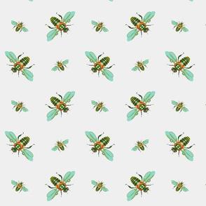 pretty green bees