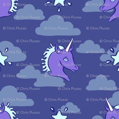 Blue Unicorn Clouds