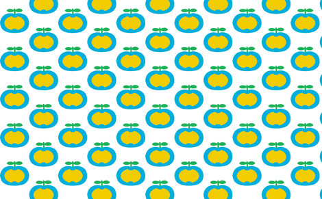 apple yellow heart fabric by myracle on Spoonflower - custom fabric