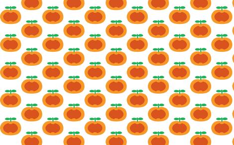 apple orange heart fabric by myracle on Spoonflower - custom fabric