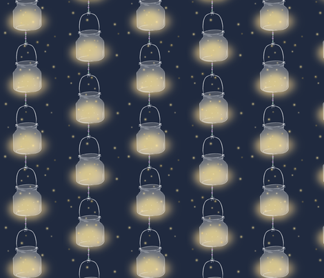 Festival Fireflies fabric by robotobunneh on Spoonflower - custom fabric