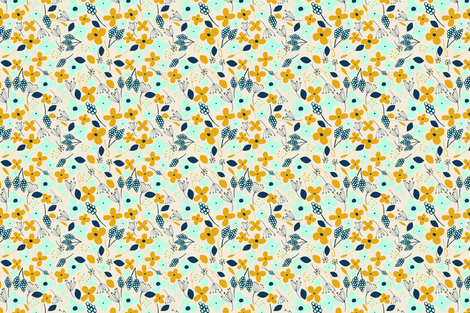 floral fabric by atate on Spoonflower - custom fabric