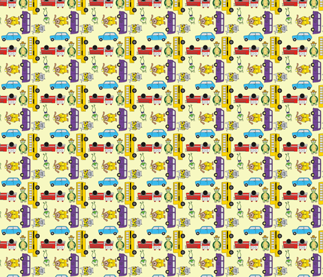 En voiture Simone  fabric by perlipo on Spoonflower - custom fabric