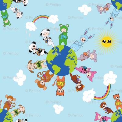 Babywearing Animals - clouds and Sunshine