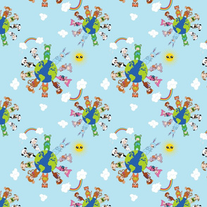 Babywearing Animals - clouds and Sunshine