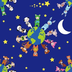 Babywearing Animals - stars and moon