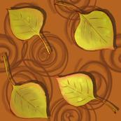 Autumn Aspen Leaves Orange