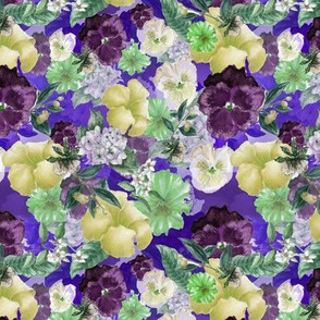 Purple and Green pansies
