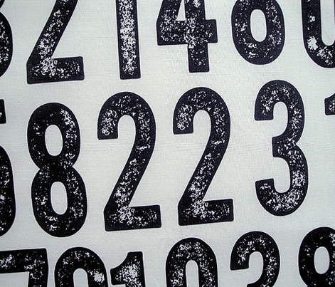 Random Number Generator (Black on White) || rubber stamp letterpress texture numbers distressed wood type punk emo photocopy