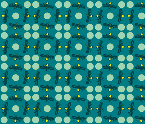 Firefly & moon - 2 fabric by ms_majabird on Spoonflower - custom fabric
