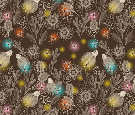 night garden fabric by cjldesigns on Spoonflower - custom fabric