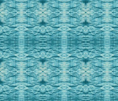 Turquoise Ripples fabric by janied on Spoonflower - custom fabric