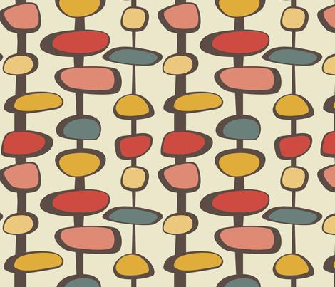 Baubles - 10in (gold) fabric by studiofibonacci on Spoonflower - custom fabric