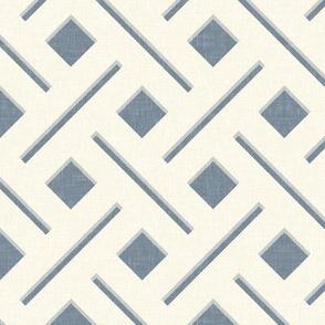 Linen Trellis, in Deep Gray-Blue