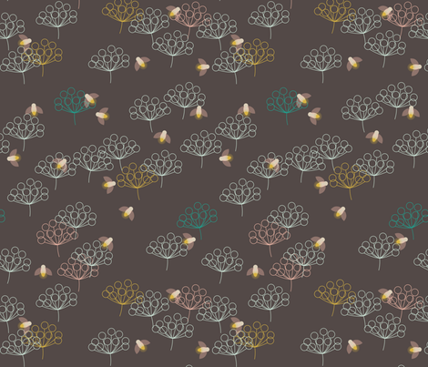 Chasing Fireflies fabric by mrshervi on Spoonflower - custom fabric