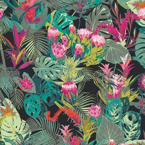 Tropical pattern dark