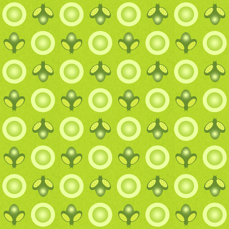 Synchronized Fireflies fabric by taramcgowan on Spoonflower - custom fabric