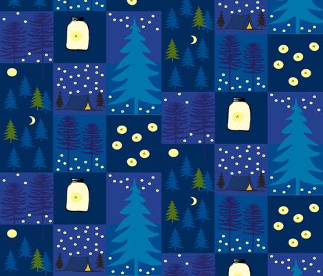 moonlight_starlight__firelight fabric by reginamartinedesign on Spoonflower - custom fabric