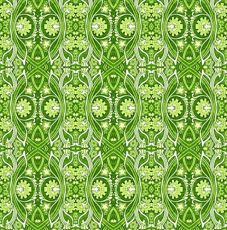 Willie's Garden vertical stripe fabric by edsel2084 on Spoonflower - custom fabric