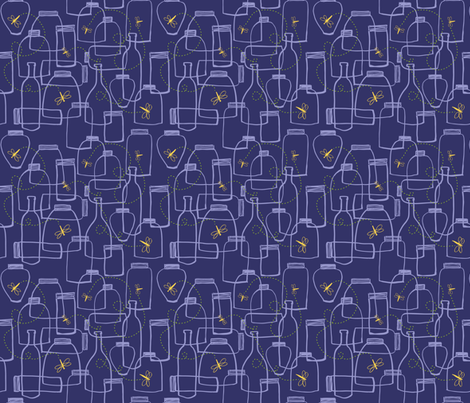 Lucioles fabric by snowflower on Spoonflower - custom fabric