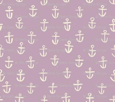 Tiny Lilac Anchors