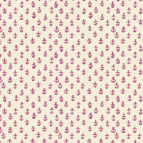 PURPLE_ANCHORS- tiny scale fabric by gsonge on Spoonflower - custom fabric
