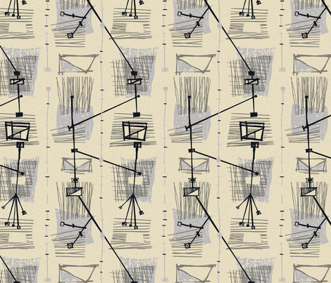 50s Sketchy /03 fabric by elizabeth_hale_design on Spoonflower - custom fabric