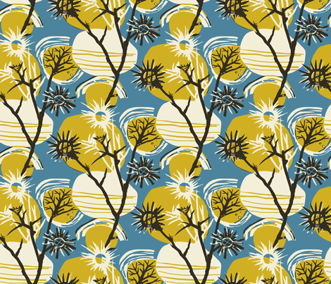 Nightweeds /03 fabric by elizabeth_hale_design on Spoonflower - custom fabric