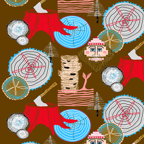 T...I...M...B...E...R!!! fabric by amy_g on Spoonflower - custom fabric