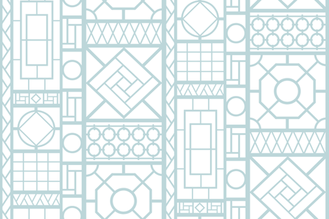 trellis_in light blue fabric by danikaherrick on Spoonflower - custom fabric
