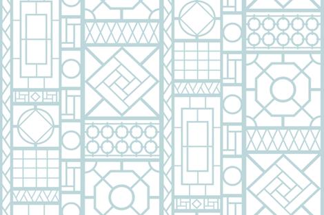 trellis_in light blue fabric by danika_herrick on Spoonflower - custom fabric