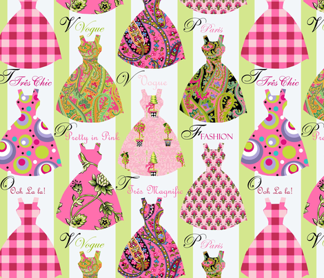 Pretty in Pink fabric by kelly_a on Spoonflower - custom fabric