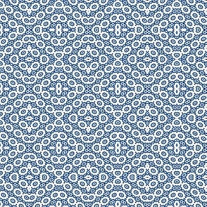 Lacy Blue and White Tilting Fractal