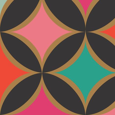 Diamond Jewel (Black) fabric by michellenilson on Spoonflower - custom fabric