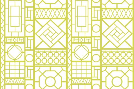trellis_in_citron fabric by danikaherrick on Spoonflower - custom fabric