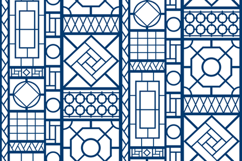 trellis_in_navy blue fabric by danikaherrick on Spoonflower - custom fabric