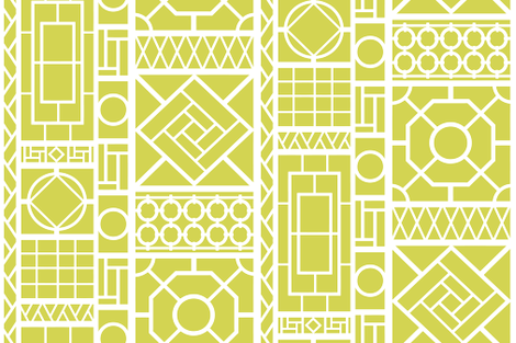 Trellis on Citron fabric by danikaherrick on Spoonflower - custom fabric