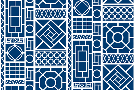 trellis on_navy blue fabric by danikaherrick on Spoonflower - custom fabric