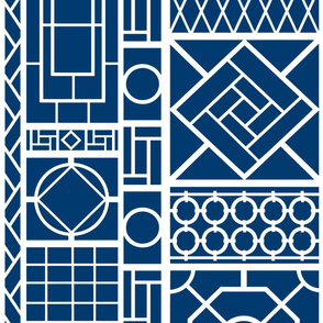 trellis on_navy blue