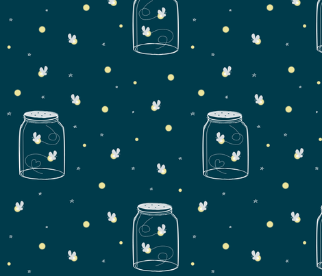 Fireflies are Free fabric by jenimp on Spoonflower - custom fabric