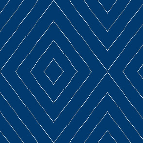 diamonds_dash_lines reverse navy